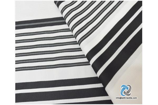 Nonslip Tallit Acrylic Prayer Shawls with black stripes