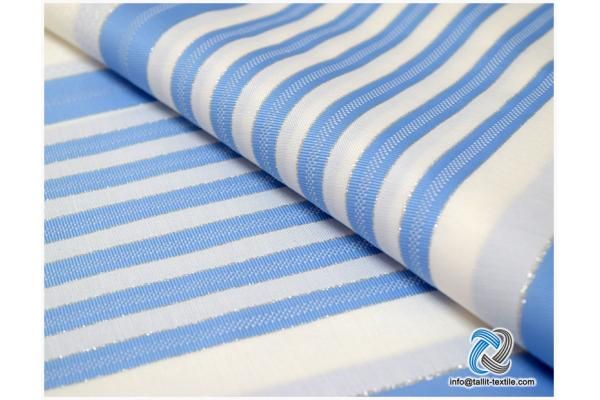 Nonslip Tallit Acrylic Prayer Shawls  in sky blue stripes