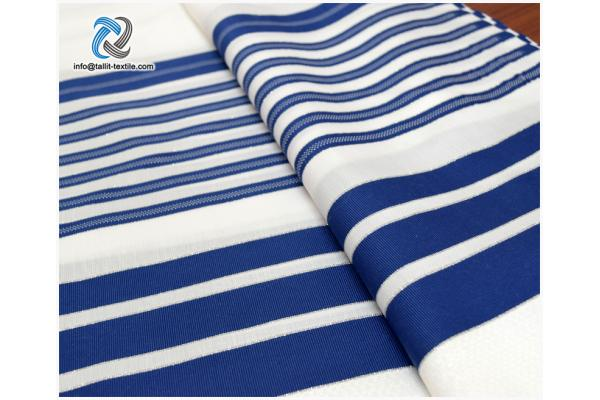 Nonslip Tallit Acrylic Prayer Shawls  in blue stripes​