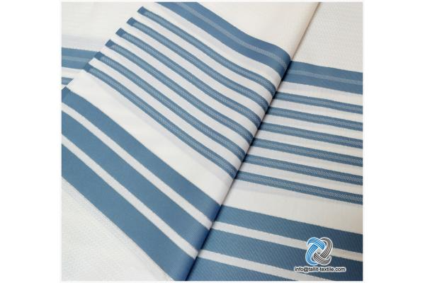 Nonslip Tallit Acrylic Prayer Shawls in Grey color stripes